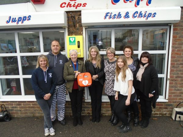 Defibrillator Presentation at Jupps Fish & Chips