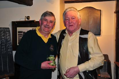 Lion President Colin Marsh of Haywards Heath Lions has again won the Toad.