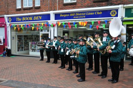 Burgess Hill Marching Youth at the Grand Opening