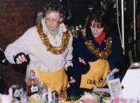 Diane and Valerie running the Tombola Stall