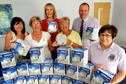 Presentation of Blood Pressure Monitors to Health Centre staff