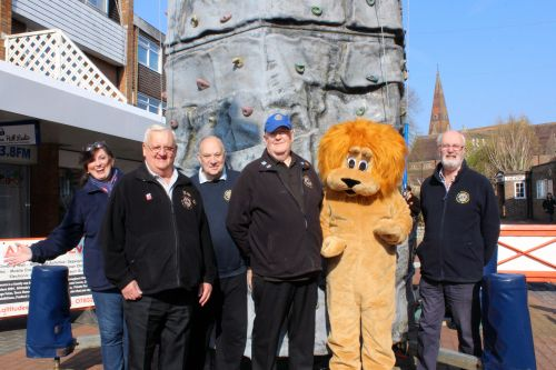 Lions supporting the Climbing Wall in Church Walk
