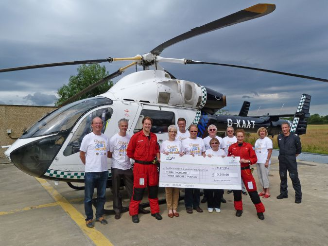 Presentation of Cheque to the Kent, Surrey and Susex Ambulance Appeal, July 2014