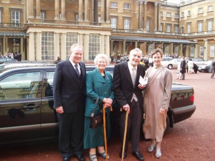 The Saunders family at Buckingham Palace, 2008
